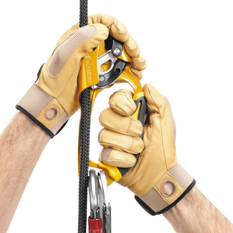 ASCENSION, Handled rope clamp for rope ascents
