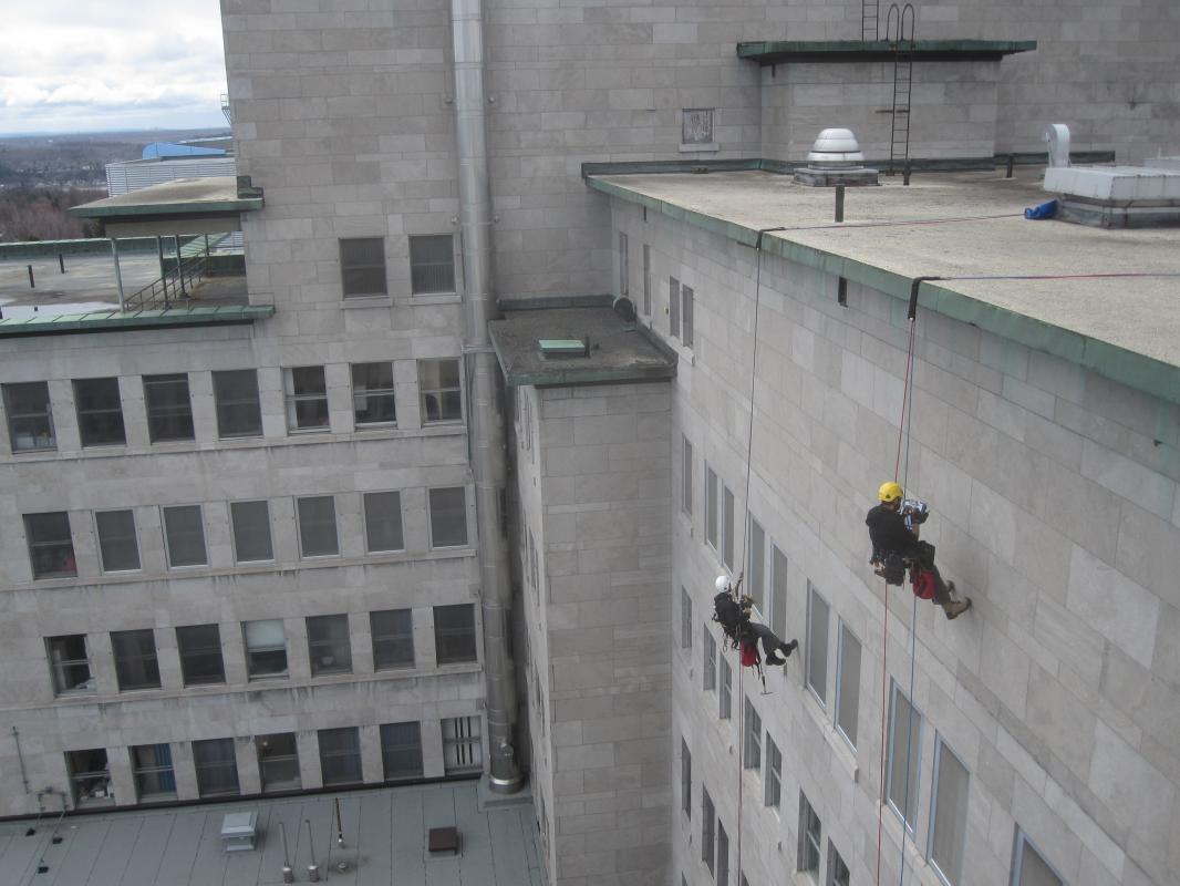 Building facade inspection